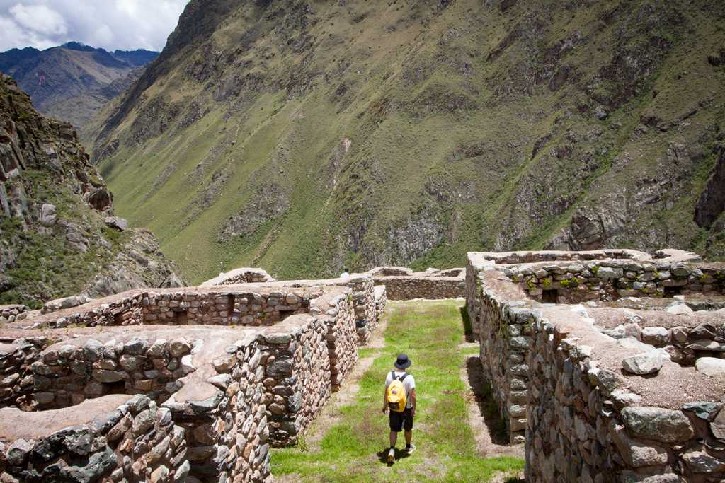 The trail is dotted with Incan ruins